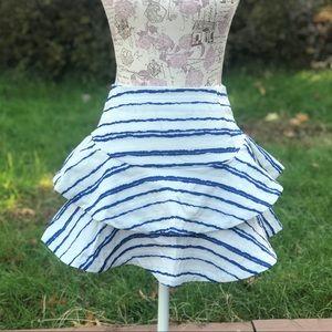 J.O.A. Striped Ruffle Skirt